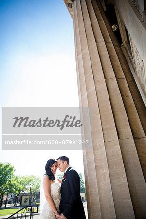 Portrait of Bride and Groom by Pillar Outdoors, Hamilton, Ontario, Canada