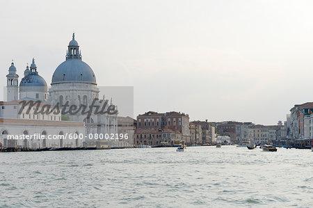 Basilica di Santa Maria della Salute at Grand Canal, Santa Maria della Salute, Venice, Veneto, Italy