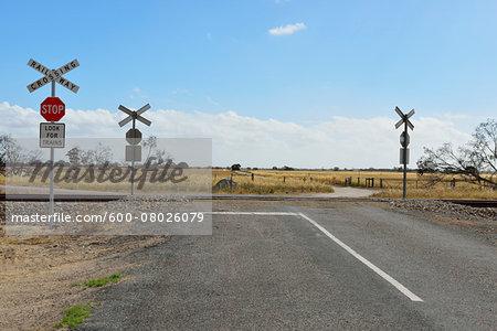 Railroad Crossing, Culburra, Dukes Highway, South Australia, Australia