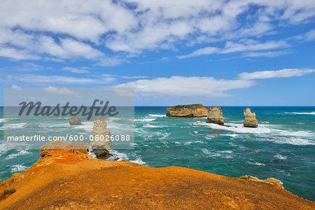 Eroded Rock Formation on Coastline, Peterborough, Great Ocean Road, Victoria, Australia