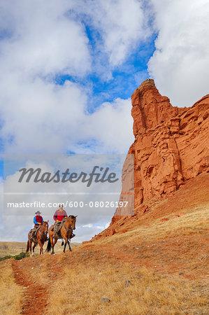 Cowboys Riding Horses, Wyoming, USA