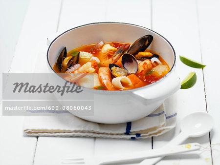 Seafood Soup, Studio Shot