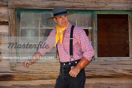 Portrait of Cowboy, Shell, Wyoming, USA