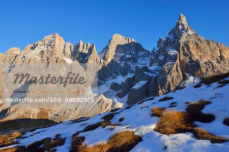 Cimon della Pala in Pale di San Martino, Passo Rolle, Parco Naturale Paneveggio Pale di San Martino, Trentino-Alto Adige, Trento District, Trentino, Dolomites, Alps, Italy