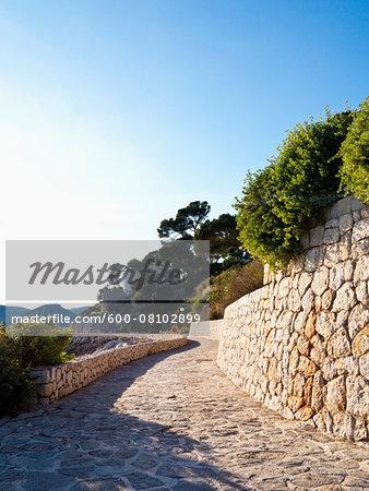 Promenade on Sunny Day, Majorca, Balearic Islands, Spain