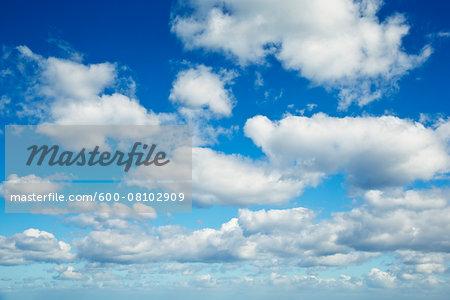 White Clouds against Blue Sky, Majorca, Balearic Islands, Spain