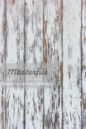 Close-up of weathered, whitewashed barn boards, Odenwald, Hesse, Germany