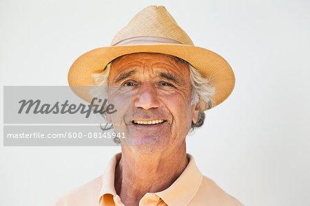 Portrait of Senior Man wearing Hat, Spain