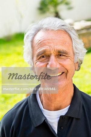 Portrait of Senior Man Outoors, Spain
