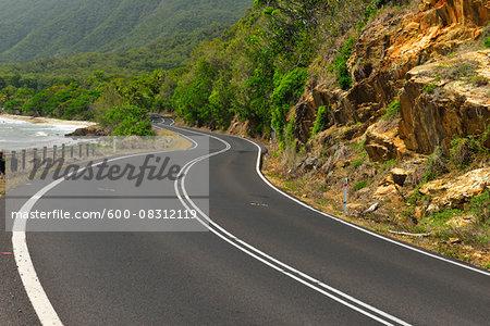 Winding Coastal Road, Captain Cook Highway, Queensland, Australia
