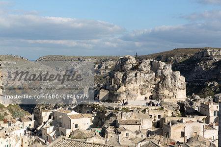 Santa Maria de Idris, Sassi, one of the oldest Rock Churches in Matera, entirely excavated in limestone, Matera, Basilicata, Italy