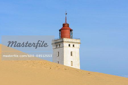 Lighthouse and Dune, Rubjerg Knude, Lokken, North Jutland, Denmark