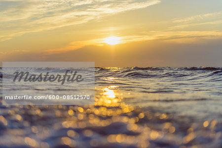Baltic Sea at Sunrise, Bunken, Aalbaek Bay, Baltic Sea, North Jutland, Denmark
