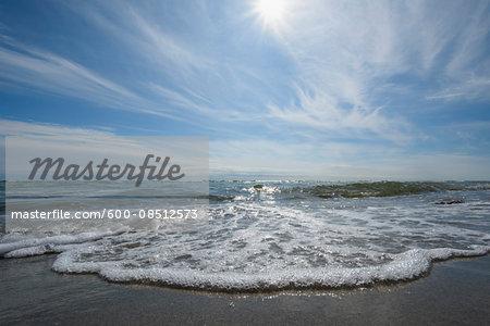 Baltic Sea Beach with Sun, Katholm Beach, Grenaa, East Jutland, Denmark
