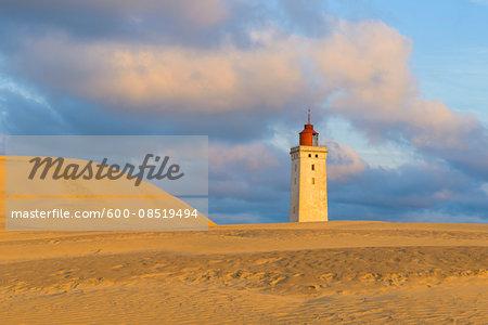 Sand Dune with Rubjerg Knude Lighthouse, Lokken, North Jutland, Denmark