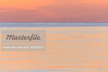 Sea at Dusk, Sjeallands Odde, Odsherred, Baltic Sea, Zealand, Denmark