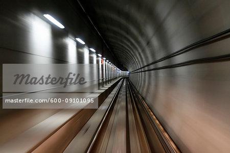 Metro Vancouver SkyTrain tunnel in Vancouver, British Columbia, Canada