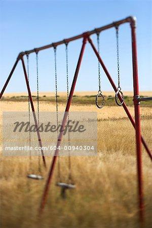 Rural swing set