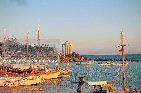 Turkey, Sidas, harbour and Apollon temple