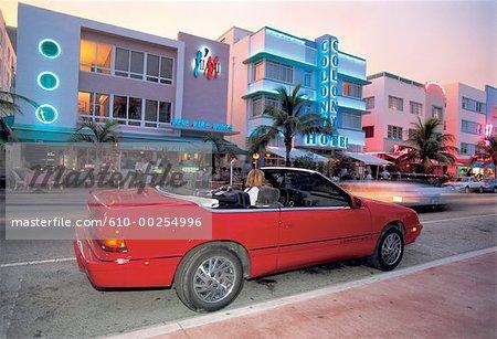 United States, Florida, Miami Beach, Art Deco hotel