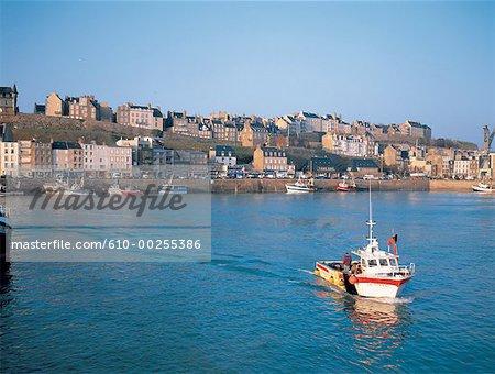 France, Normandy, Granville fishing port