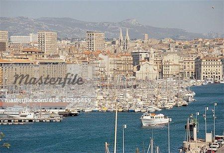 France, Provence, Marseilles, le vieux port.