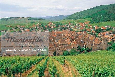 France, Alsace, Village of Riquewihr