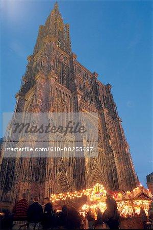 France, Alsace, Strasbourg Cathedral.