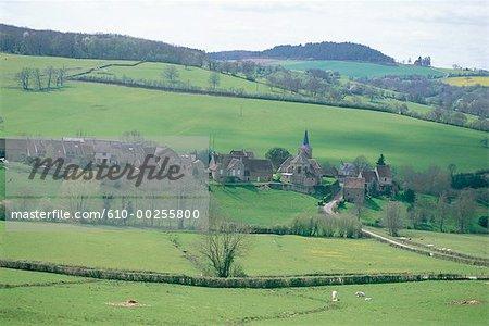 France, Burgundy, Village