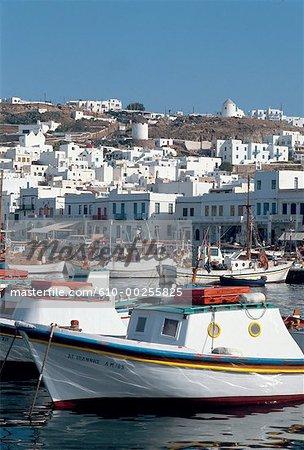 Greece, Mykonos, view of harbour