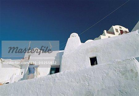Greece, Santorini, village terraces