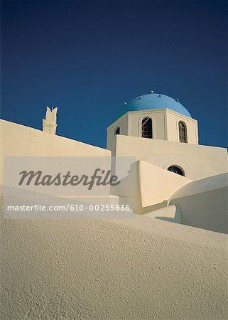 Greece, Santorini, domes and terraces