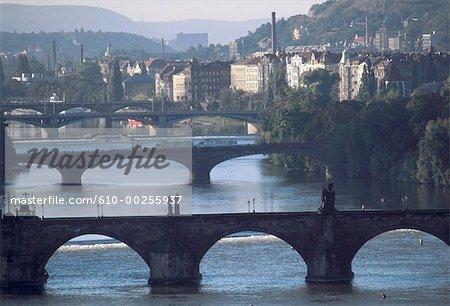 Czech Republic, Prague, Bridges on the Vlata River