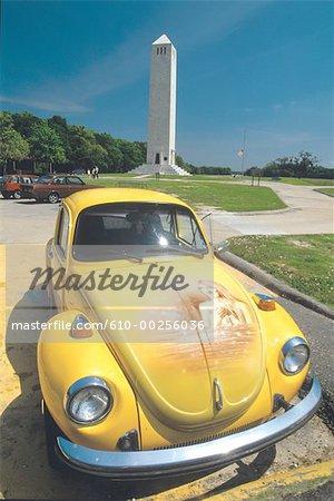 United States, Louisiana, Yellow car