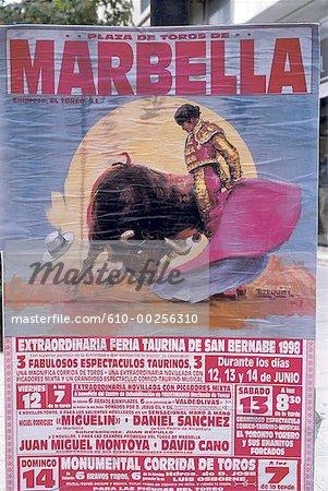 Spain, Andalusia, Corrida poster