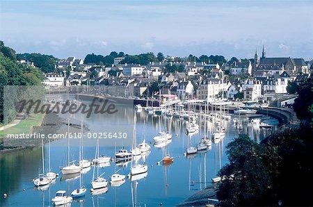 France, Brittany, St Goustan harbour