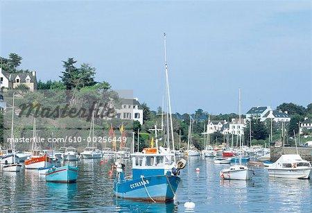 France, Brittany, Clohars-Carno't,  Doelan harbour