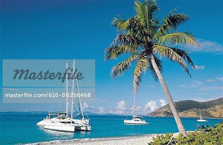 Virgin Islands, anchoring at Sandy Island