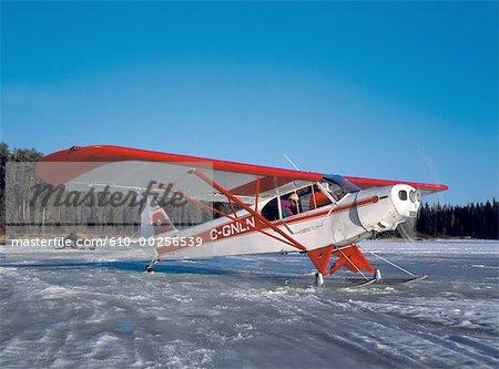 Canada, Ontario, Dowswell Lake, light plane