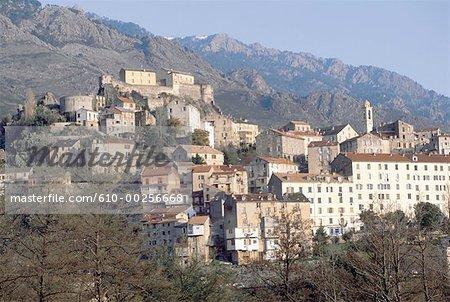 France, Corsica, Corte, village high up