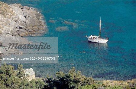 France, Corsica, Cap Corse, anchoring