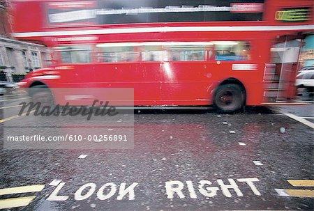 England, London, Double-decker bus