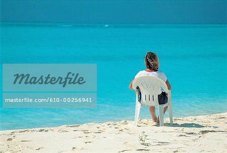 Virgin Islands, woman looking at the sea