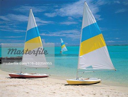 Mauritius, sailing boats