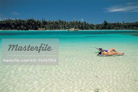 French Polynesia, Moorea island, beach