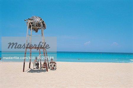 Cuba, Havana, eastern beaches, looking at the sea