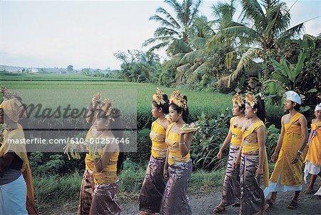Indonesia, Bali, Odalan procession in Singapadu