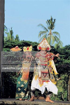 Indonesia, Bali, Baris dancers