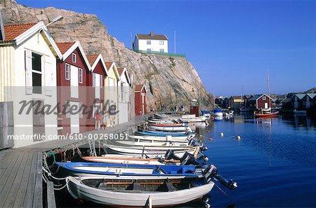 Sweden, Bohuslan, Smögen harbour
