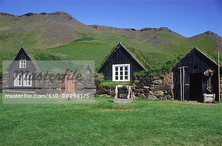 Iceland, Skogar, traditional house
